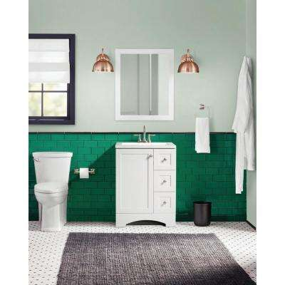 Lancaster 24 in. W Bath Vanity in White with Alpine Vanity Top in White
