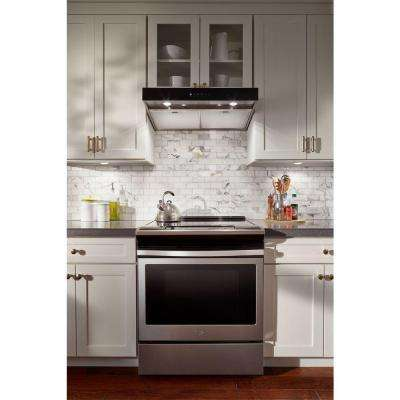 36 in. Under Cabinet Range Hood in Stainless Steel with Boost Function