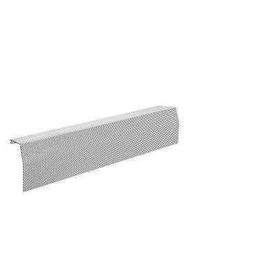 Premium Series 3 ft. Galvanized Steel Easy Slip-On Baseboard Heater Cover in White