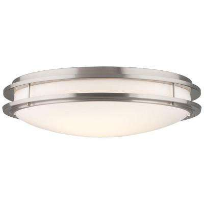Cambridge 36-Watt 2-Light Satin Nickel CFLni 4-Pin 2G11 Base Ceiling Fixture