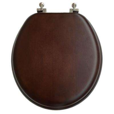 Round Closed Front Toilet Seat in Walnut