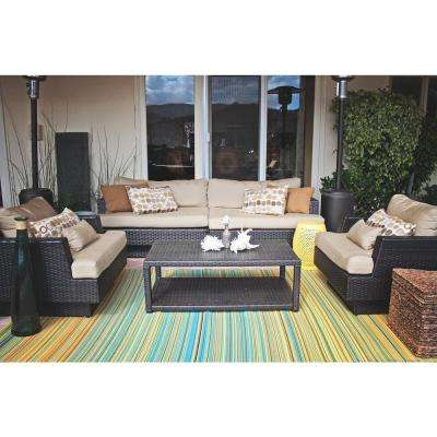Cancun Indoor/Outdoor Lemon and Apple Green 3 ft. x 5 ft. Area Rug