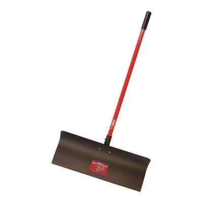 30 in. Steel Snow Pusher with Fiberglass Long Handle