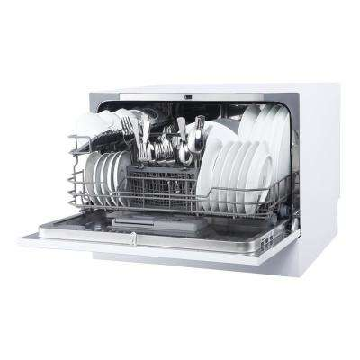 Countertop Portable Dishwasher in White with 6 Place Settings Capacity