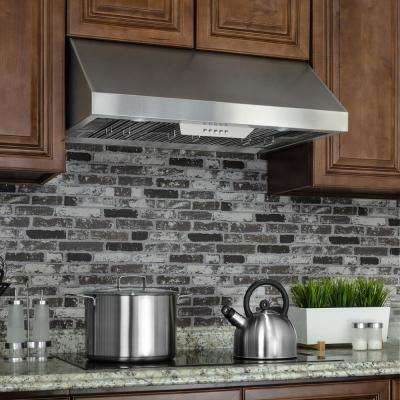 36 In. Under Cabinet Range Hood In Stainless Steel With LEDs And Electronic  Push Buttons