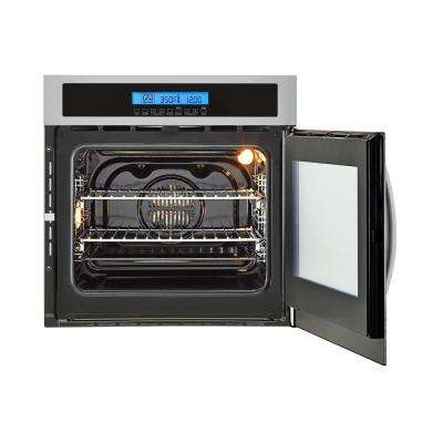 24 in. Single Electric Right-Swing Door Wall Oven with Convection in Stainless Steel