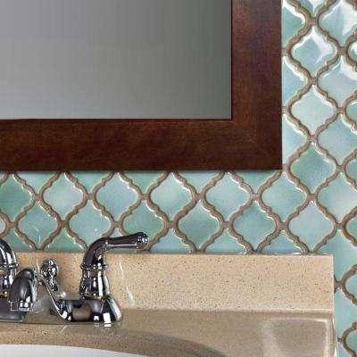 Hudson Tangier Mint Green 12-3/8 in. x 12-1/2 in. x 5 mm Porcelain Mosaic Tile