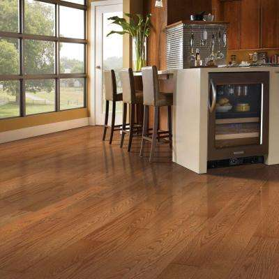 Oak Gunstock 3/8 in. Thick x 5-1/4 in. Wide x Varying Length Engineered Click Hardwood Flooring (22.5 sq. ft.)