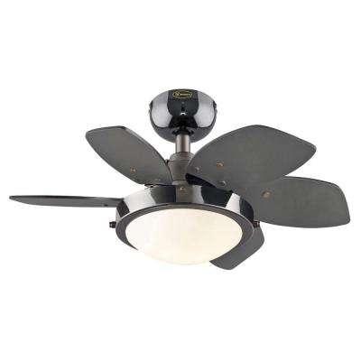 Quince 24 in. Indoor Gun Metal Ceiling Fan