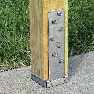 CBSQ Galvanized Standoff Column Base for 4x4 Nominal Lumber with SDS Screws