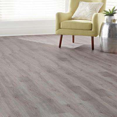 Grey Wood 7.5 in. x 47.6 in. Luxury Vinyl Plank Flooring (24.74 sq. ft. / case)