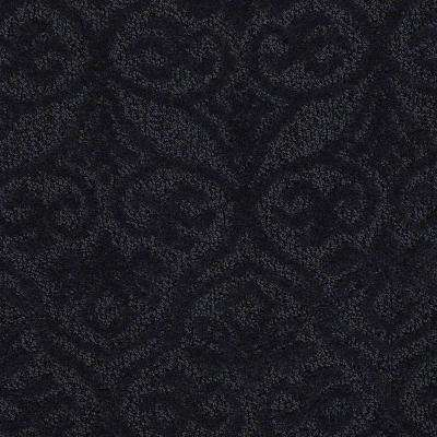 Carpet Sample - Perfectly Posh - In Color Lagoon 8 in. x 8 in.