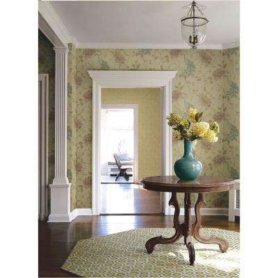 56.4 sq. ft. Dynasty Beige Peacock Wallpaper