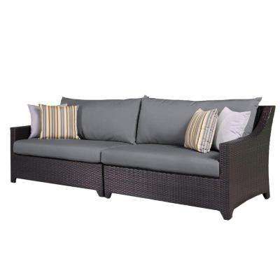 Deco Patio Sofa with Charcoal Grey Cushions