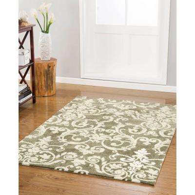 Halstead Plush Knit Taupe 8 ft. x 11 ft. Area Rug