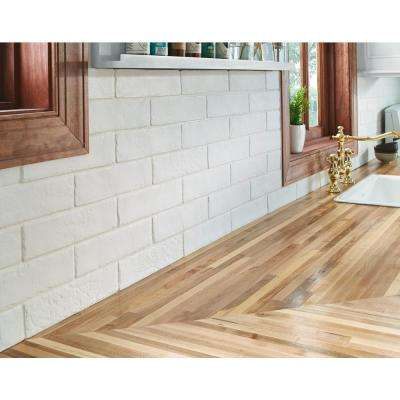 Capella 2-1/3 in. x 10 in. White Brick Glazed Porcelain Floor and Wall Tile (5.17 sq. ft. / case)