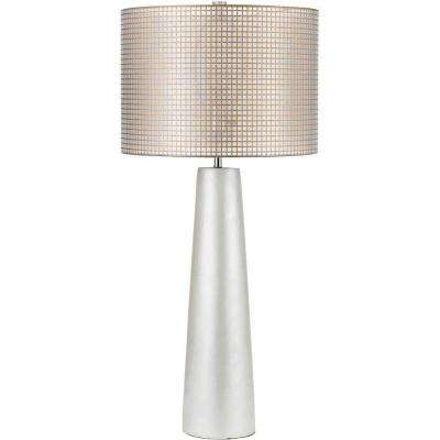Lola 35 in. Pearl Resin Table Lamp with Natural Color Gauze Shade