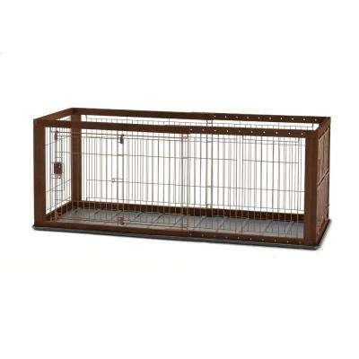 Small Expandable Pet Crate with Floor Tray