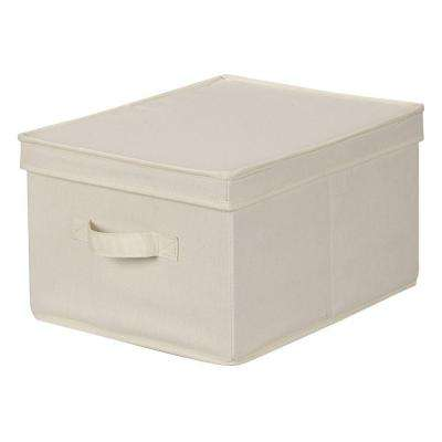 12 in. x 15 in. Natural Canvas Large Storage Box