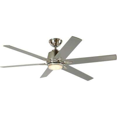 Kensgrove 54 in. Integrated LED Indoor Brushed Nickel Ceiling Fan with Light Kit and Remote Control