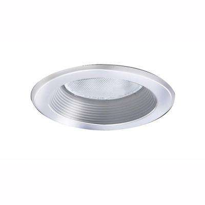 5 in. White Recessed Lighting Baffle Splay Trim