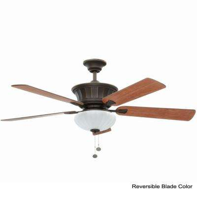 Edenwilde 52 in. Indoor Oil Rubbed Bronze Ceiling Fan with Light Kit