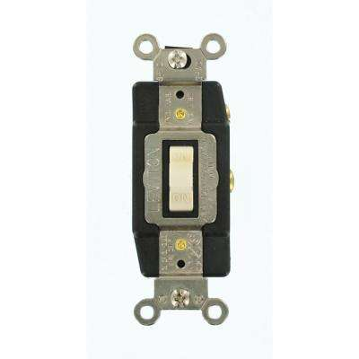 20 Amp Industrial Grade Heavy Duty Single-Pole Double-Throw Center-Off Momentary Contact Toggle Switch, Light Almond