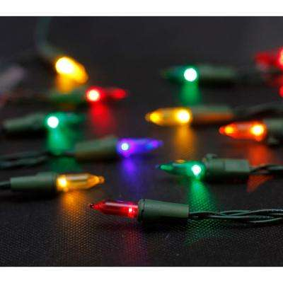 33 ft. 100-Light Battery Operated Mini Multi-Colored LED Lights