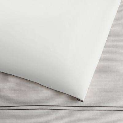 Emmett 3-Piece Neutral Stripe Farmhouse Duvet Cover Set