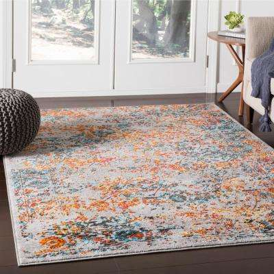 Everest Blue/Orange 5 ft. 3 in. x 7 ft. 3 in. Oriental Area Rug