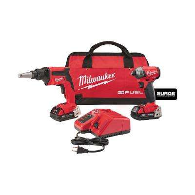 M18 18-Volt FUEL Lithium-Ion Brushless Drywall Screw Gun/Impact Combo Kit with CP Batteries