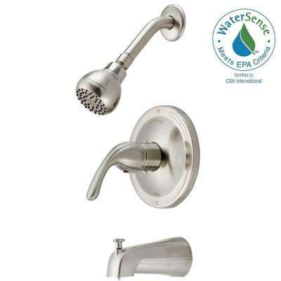 Builders Single-Handle 1-Spray Tub and Shower Faucet in Brushed Nickel