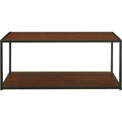 Altra Canton 27.4 in. Coffee Table in Cherry (Medium Brown) with Metal Frame