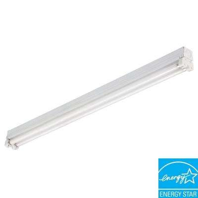 Mini Strip 2-Light White Fluorescent Utility Light