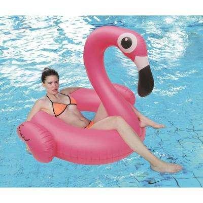 53.5 in. Jumbo Inflatable Pink Flamingo Float