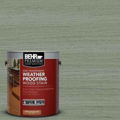 1-gal. #ST-143 Harbor Gray Semi-Transparent Weatherproofing Wood Stain
