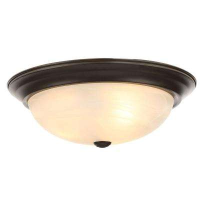 Reedley Collection 3 Light Flush Ceiling Oil Rubbed Bronze Fixture