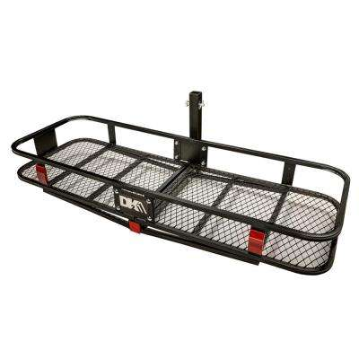 500 lb capacity hitch mounted cargo carrier