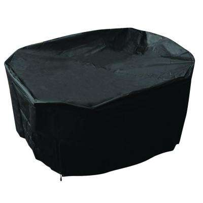 70 in. Round Patio Cover Black