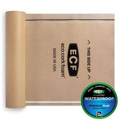 675 sq. ft. 3 ft. x 25 ft. x 3.2 mm Waterproof Premium Plus 10-in-1 Underlayment for Vinyl, Laminate & Engineered Floors