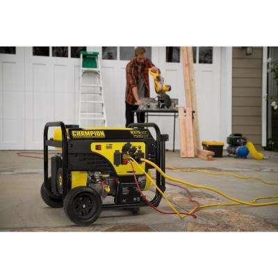 7500-Watt Gasoline Powered Electric Start Portable Generator with Champion 420cc 4-stroke Engine