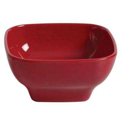 Jazz 20 oz., 5-1/2 in. x 5-1/2 in. Round Square Bowl, 2-3/4 in. Deep in Red (1-Piece)
