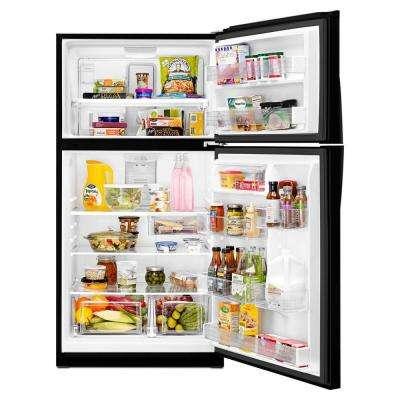 21.3 cu. ft. Top Freezer Refrigerator in Black