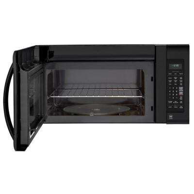2.0 cu. ft. Over the Range Microwave in Smooth Black with EasyClean and Sensor Cooking