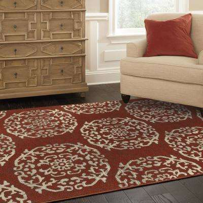Colonial Paprika 2 ft. x 8 ft. Runner Rug