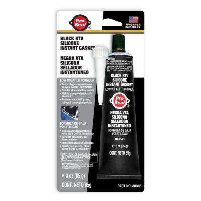 3 oz. Black RTV Silicone Instant Gasket (12-Pack)-DISCONTINUED
