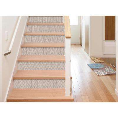 10.5 in. x 10.5 in. Chevron Distressed Wood Peel and Stick Tiles (4-Pack)