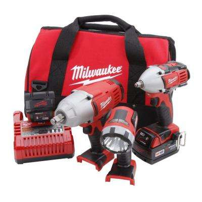 Reconditioned M18 18-Volt Lithium-Ion Cordless XC Auto Combo Kit (3-Tool)