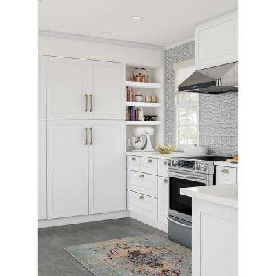 Cambridge Assembled 84x24x24.5 in. Pantry Cabinet with adjustable shelves in White