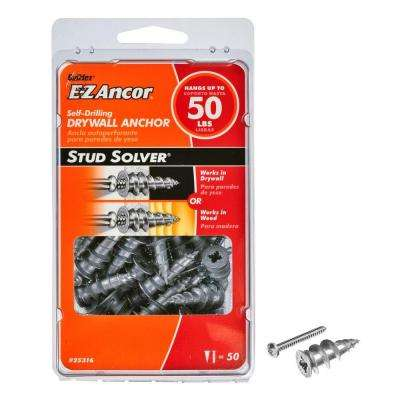 Stud Solver #7 x 1-1/4 in. Phillips Zinc-Plated Flat-Head Drywall Anchors (50-Pack)